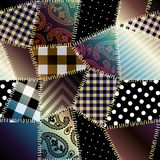 Patchwork with gradient shadow. Royalty Free Stock Photography