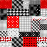 Patchwork of gray and red patches Royalty Free Stock Image