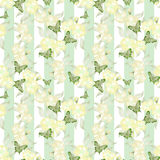 Patchwork green colors geometrical floral pattern background Royalty Free Stock Images