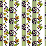 Patchwork green floral pattern background Royalty Free Stock Photo