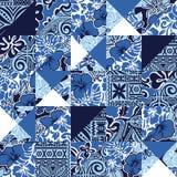 Patchwork hawaïen de tissu de ketmie de vintage Photos libres de droits