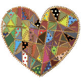 Patchwork heart Stock Image