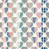 Patchwork hearts background Royalty Free Stock Photo