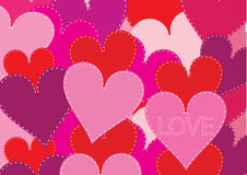Patchwork hearts background Royalty Free Stock Image