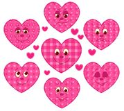 Patchwork hearts Stock Images