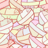 Patchwork hearts vector seamless pattern. Royalty Free Stock Photography