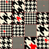 Patchwork of houndstooth Stock Photos