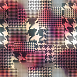 Patchwork of houndstooths pattern on blurred Royalty Free Stock Photo