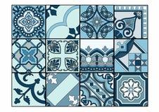 Patchwork i skuggor av blått Royaltyfria Bilder