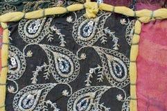 Patchwork, indyjska tkanina Obrazy Royalty Free