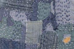 Patchwork. Jeans patchwork texture denim fashion Royalty Free Stock Photos