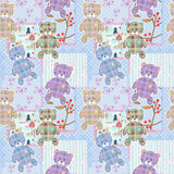 Patchwork for kids with colorful elements and bears Royalty Free Stock Image