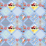 Patchwork for kids with colorful elements Stock Image