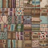 Patchwork kołderki bezszwowa tekstura zdjęcie royalty free