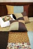 patchwork kołdrę na poduszki Obrazy Stock