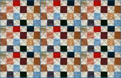 patchwork kolorowa kołderka Obrazy Royalty Free