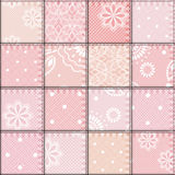 Patchwork of lace fabric Royalty Free Stock Photos