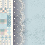 Patchwork with lace fringe Royalty Free Stock Photos