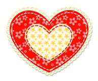 Patchwork and lace heart Stock Images