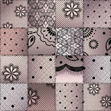 The patchwork from lace Royalty Free Stock Photo