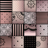 The patchwork from lace Stock Image