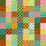Patchwork made of animals patterns Royalty Free Stock Photo