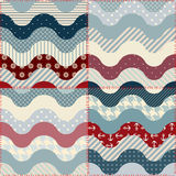 Patchwork in marine style. Royalty Free Stock Photo