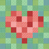Patchwork mosaic with heart Royalty Free Stock Images
