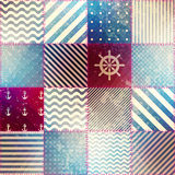 The patchwork in nautical style. Royalty Free Stock Photo