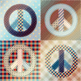 Patchwork with pacifics. Royalty Free Stock Photos