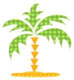 Patchwork palm tree. Royalty Free Stock Photos