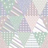 Simple pastel floral pattern for cute childish textile or scrapbooking background. Patchwork pastel colors vector seamless pattern with triangles. Geometric Stock Photography