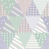 Simple pastel floral pattern for cute childish textile or scrapbooking background. Patchwork pastel colors vector seamless pattern with triangles. Geometric Royalty Free Stock Photography
