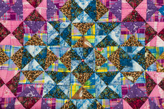 Patchwork pattern. Patchwork quilt pattern, colorful background stock images