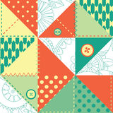Patchwork pattern. Funny and bright patchwork - seamless background Stock Photography