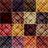 Patchwork pattern with abstract diagonal waves Stock Photography
