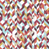 Patchwork pattern bohemian style with geometric polygonal retro decorative ornaments. Eps10 vector illustration Royalty Free Stock Photography