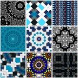 Patchwork pattern design in boho style royalty free illustration
