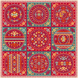 Patchwork pattern. Ethnic geometric print. Wallpaper, pattern fills, web page background, surface textures. Wrapping. Festive packaging. Geometric carpet. Web Stock Photos