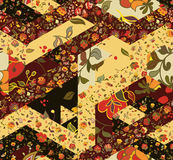 Patchwork pattern with flowers Royalty Free Stock Photography