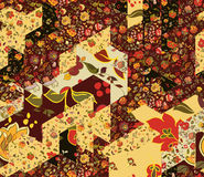 Patchwork pattern with flowers Stock Photo