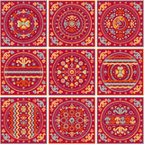 Patchwork pattern. Oriental style. Patchwork pattern. Ethnic geometric print. Wallpaper, pattern fills, web page background, surface textures. Wrapping. Festive Royalty Free Stock Photos