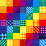 Patchwork pattern of rainbow colors Stock Photo