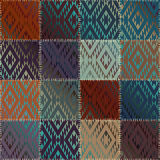 Patchwork pattern with satin effect Stock Photo