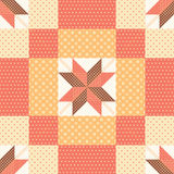 Patchwork pattern. Patchwork seamless pattern with stars Stock Images