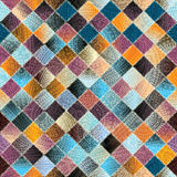 Patchwork pattern from small squares Stock Image