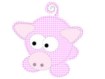 Patchwork Piggy Craft Cartoon Pig Vector Royalty Free Stock Image