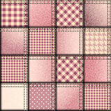 Patchwork of pink denim fabric Royalty Free Stock Photo