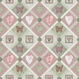 Patchwork pink squares seamless pattern texture Stock Photos