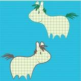 Patchwork ponies Stock Images